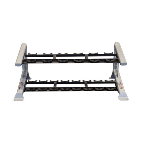 Body-Solid ProClub SDKR500SD 2 Tier Saddle Dumbbell Rack Top Front View