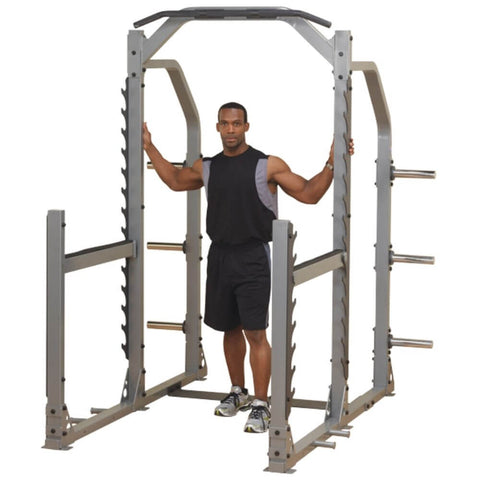 Image of Body-Solid ProClub SMR1000 Multi Squat Rack 3D View With Model