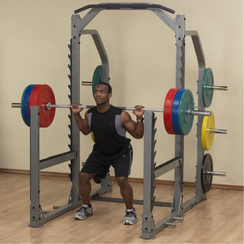 Image of Body-Solid ProClub SMR1000 Multi Squat Rack Lunges Knee Bent