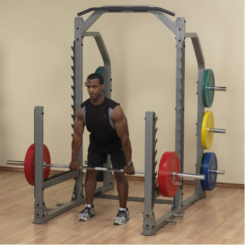 Image of Body-Solid ProClub SMR1000 Multi Squat Rack Preparing To Lunges