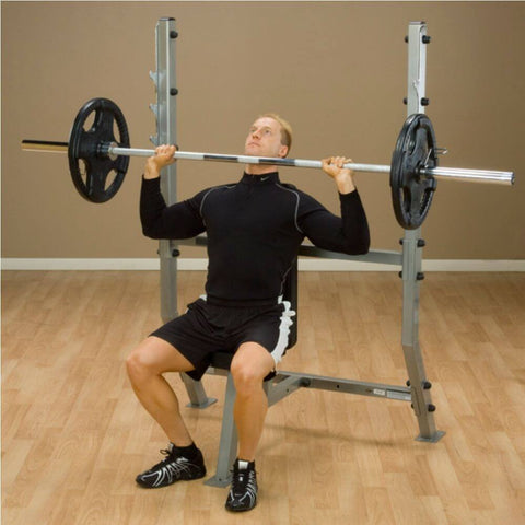 Image of Body-Solid ProClub SPB368G Olympic Shoulder Press Bench Chin Level
