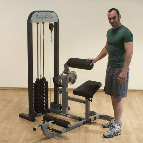 Image of Body-Solid Pro Select GCAB-STK Ab And Back Selectorized Male Standing