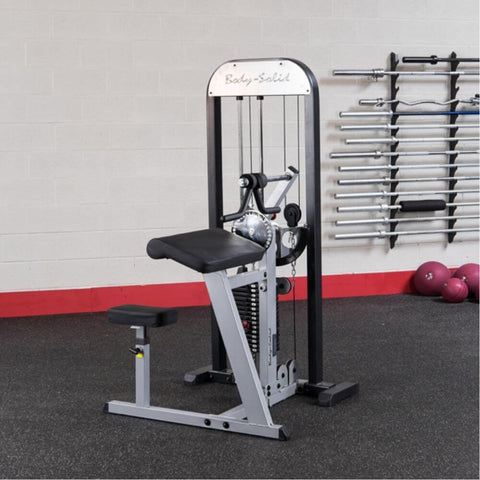 Body-Solid Pro Select GCBT-STK Biceps And Triceps Machine Front Side View