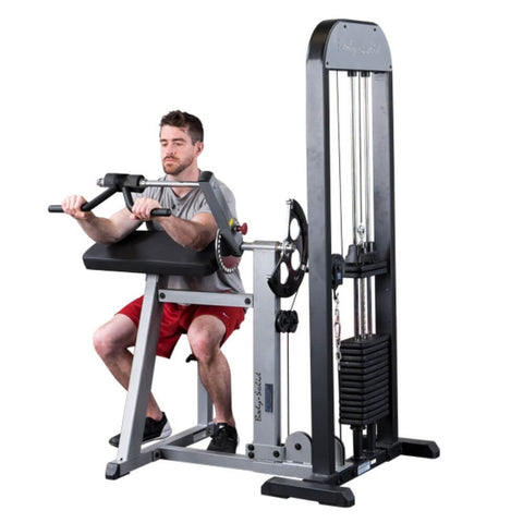 Body-Solid Pro Select GCBT-STK Biceps And Triceps Machine Front View Over Hand