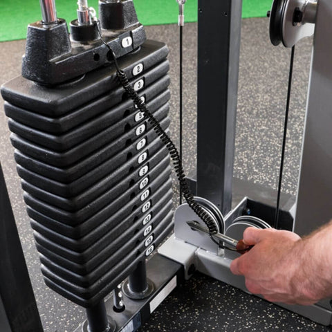 Image of Body-Solid Pro Select GCBT-STK Biceps And Triceps Machine Weight Stack