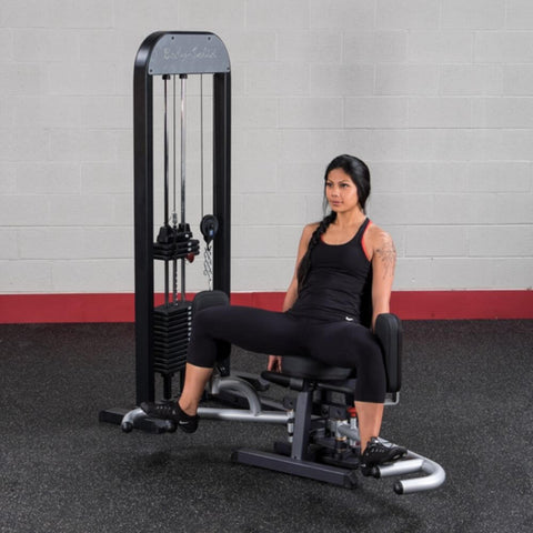 Image of Body-Solid Pro Select GIOT-STK Inner_Outer Thigh Machine Exercise Fully Open Legs