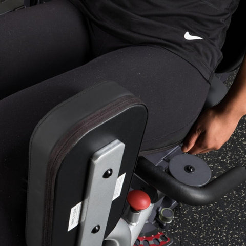 Image of Body-Solid Pro Select GIOT-STK Inner_Outer Thigh Machine Top Side View Leg Pads