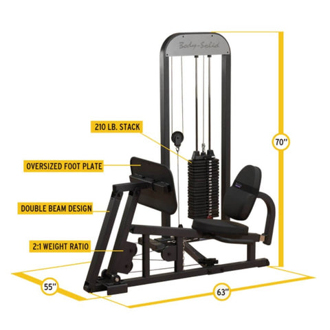 Body-Solid Pro Select GLP-STK Leg And Calf Press Machine Dimensions
