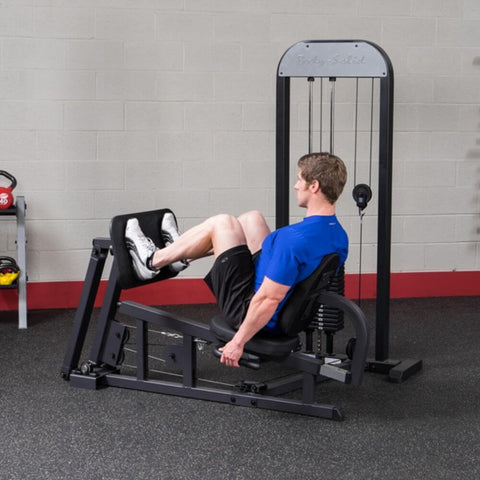 Body-Solid Pro Select GLP-STK Leg And Calf Press Machine Side View Bended Knee