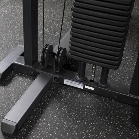 Image of Body-Solid Pro Select GMFP-STK Funtional Pressing Station Back View Weight Stack