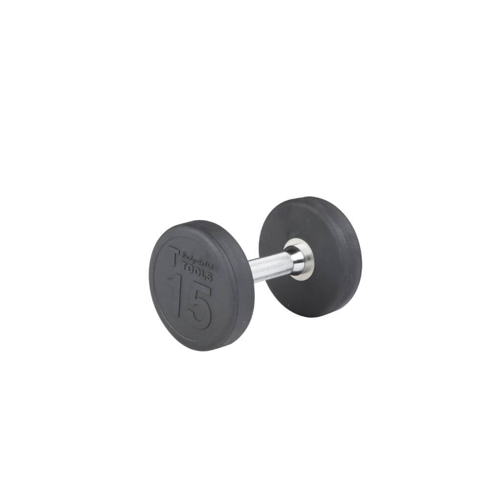 Body-Solid SDP Rubber Round Dumbbells 15 lbs