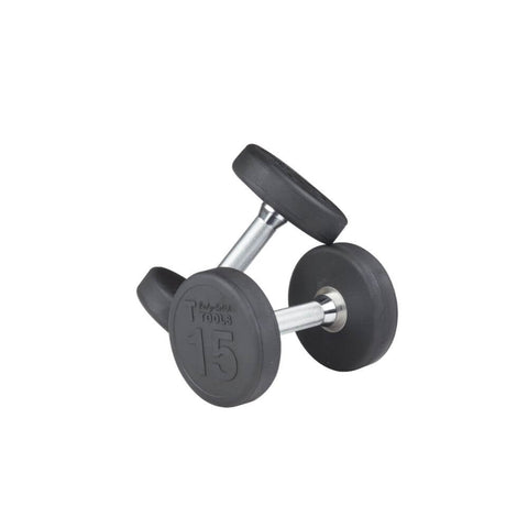 Body-Solid SDP Rubber Round Dumbbells 15 lbs Pair