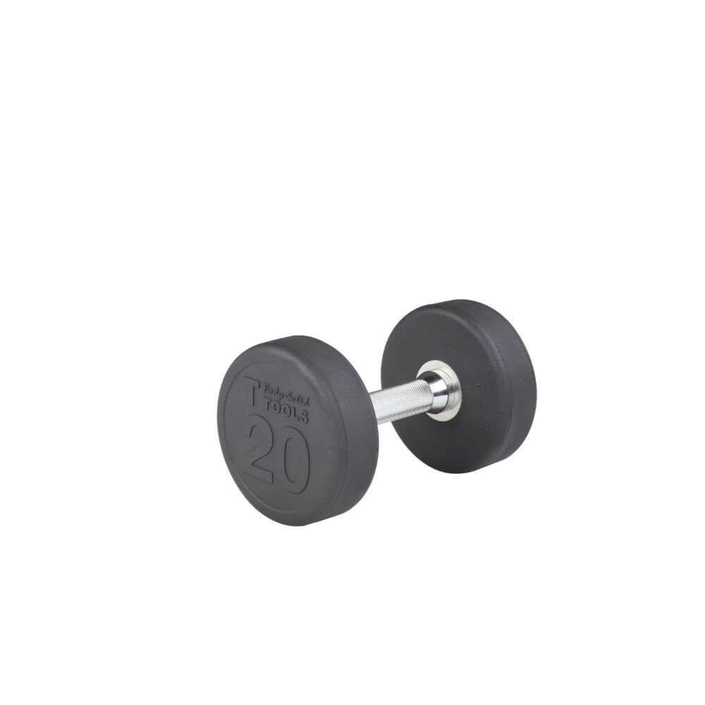 Body-Solid SDP Rubber Round Dumbbells 20 lbs