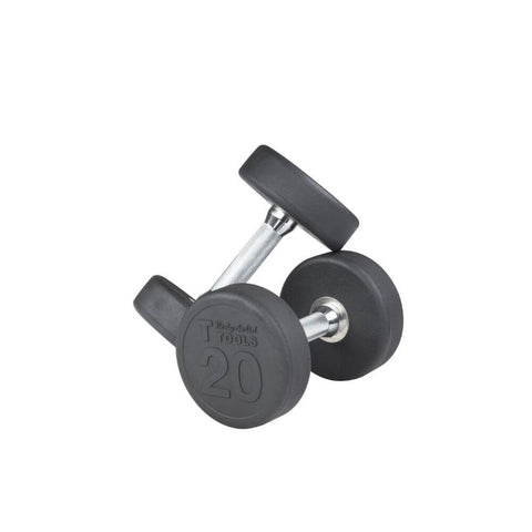 Body-Solid SDP Rubber Round Dumbbells 20 lbs Pair