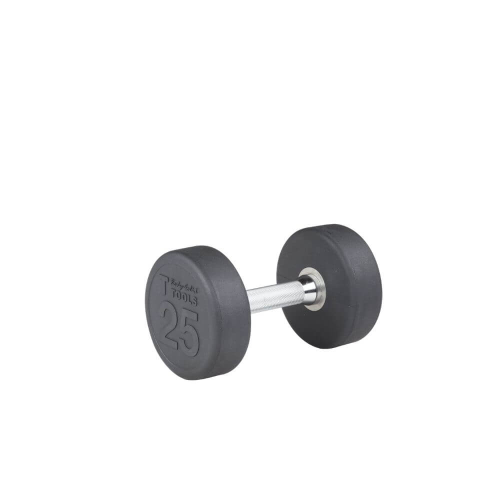Body-Solid SDP Rubber Round Dumbbells 25 lbs
