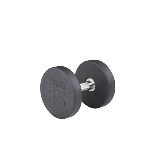 Body-Solid SDP Rubber Round Dumbbells 35 lbs