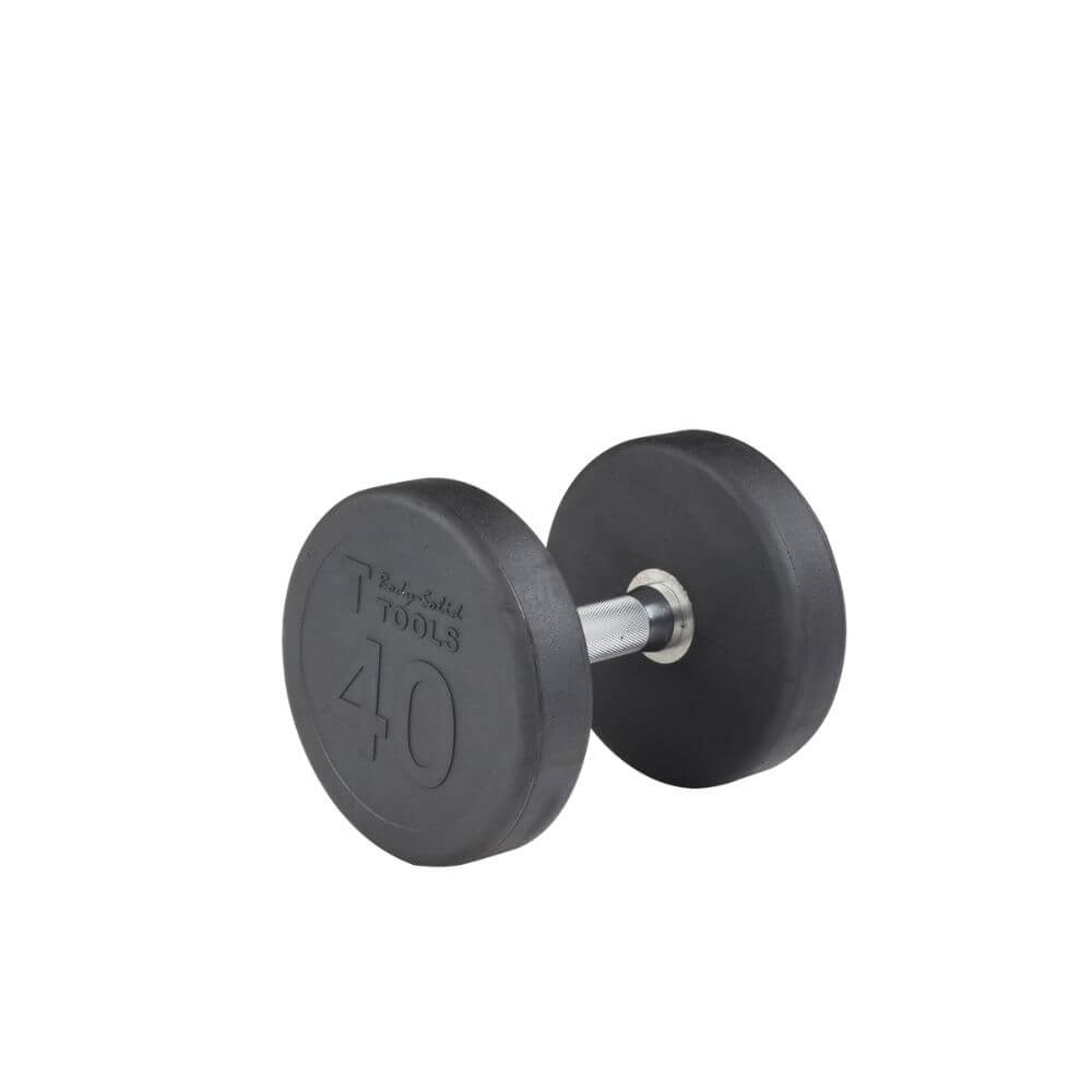 Body-Solid SDP Rubber Round Dumbbells 40 lbs