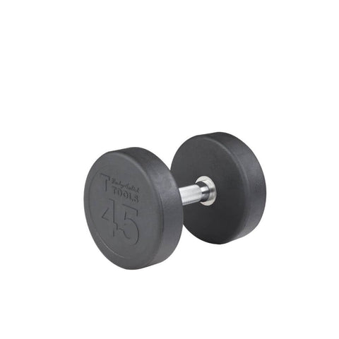 Body-Solid SDP Rubber Round Dumbbells 45 lbs