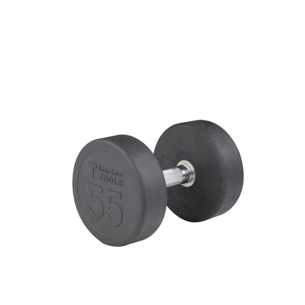 Body-Solid SDP Rubber Round Dumbbells 55 lbs