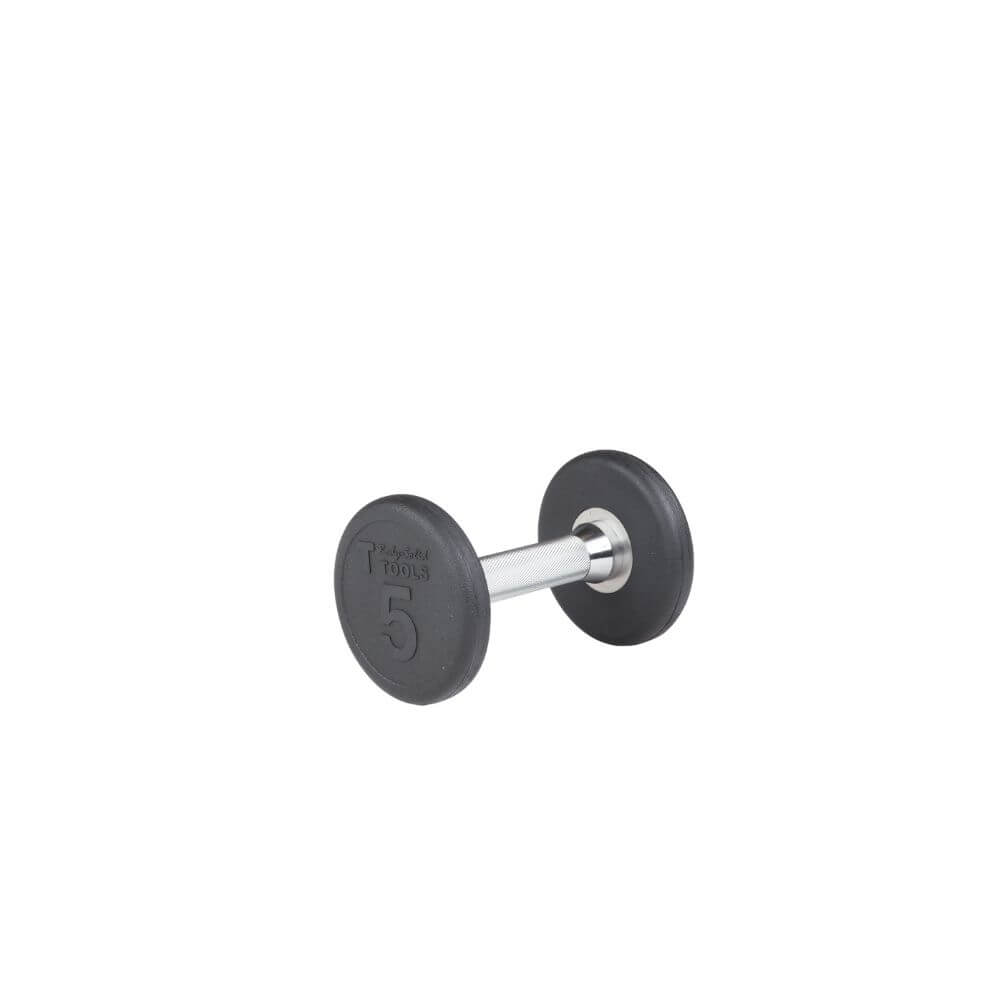 Body-Solid SDP Rubber Round Dumbbells 5 lbs