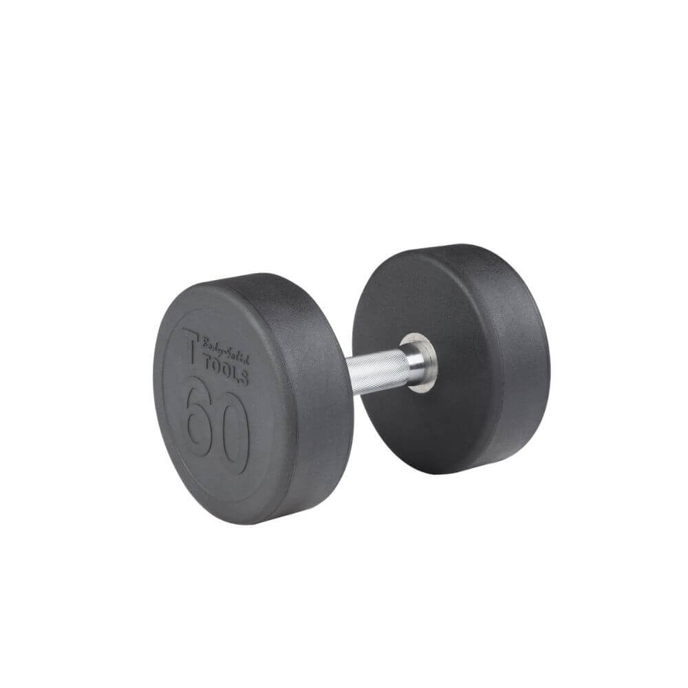 Body-Solid SDP Rubber Round Dumbbells 60 lbs