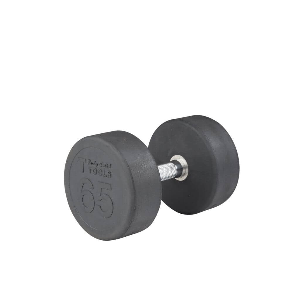 Body-Solid SDP Rubber Round Dumbbells 65 lbs