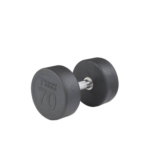 Body-Solid SDP Rubber Round Dumbbells 70 lbs