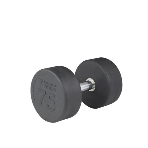 Body-Solid SDP Rubber Round Dumbbells 75 lbs