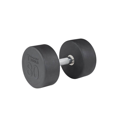 Body-Solid SDP Rubber Round Dumbbells 80 lbs