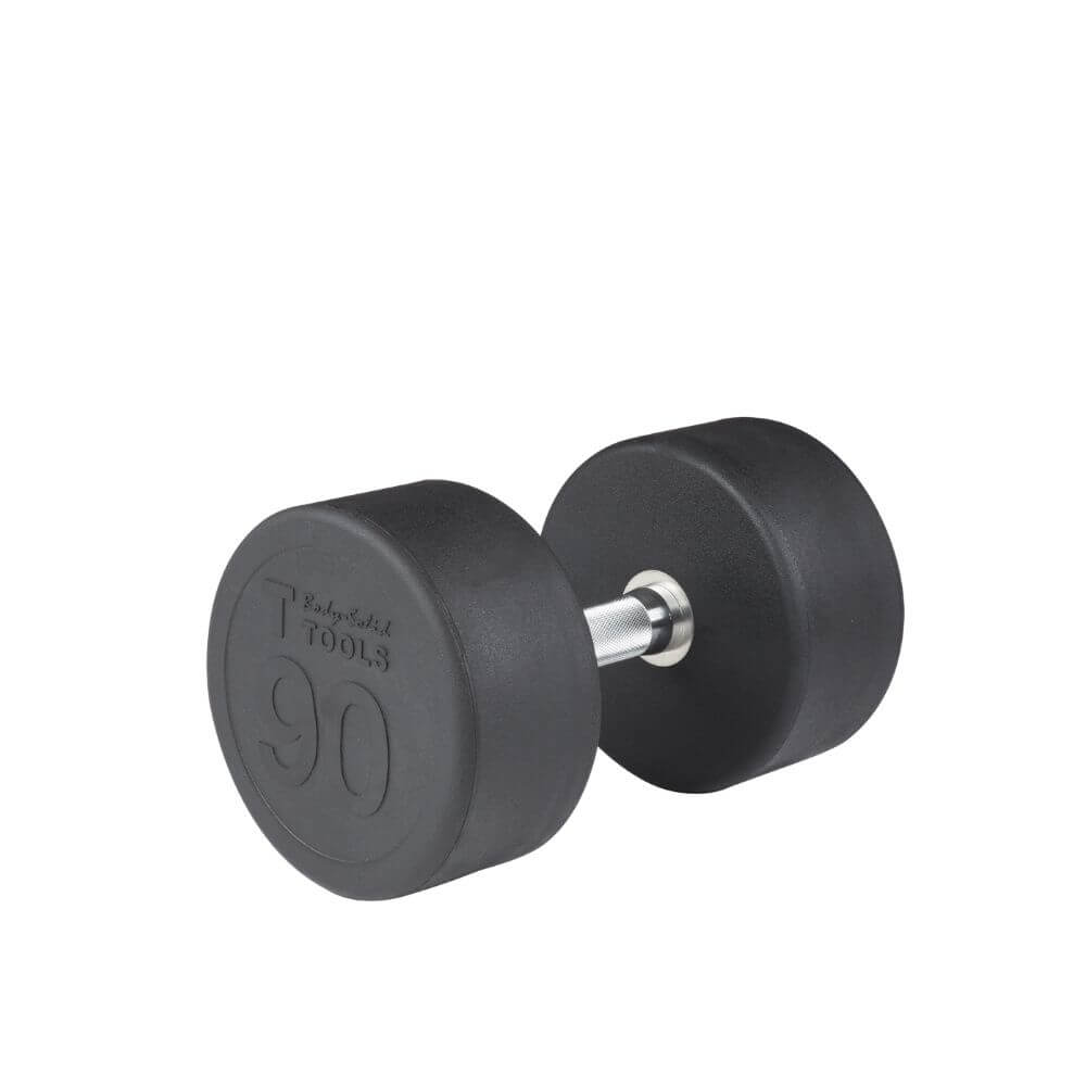 Body-Solid SDP Rubber Round Dumbbells 90 lbs