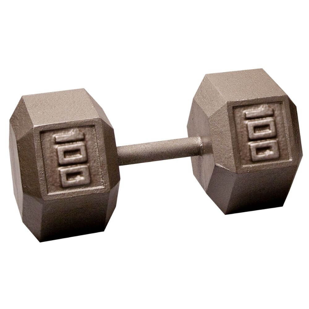 Body-Solid SDX Cast Iron Hex Dumbbells 100 lbs