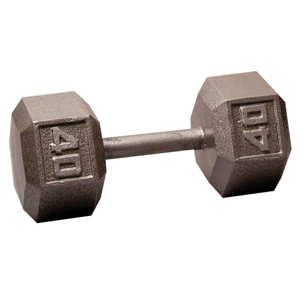 Body-Solid SDX Cast Iron Hex Dumbbells 40 lbs