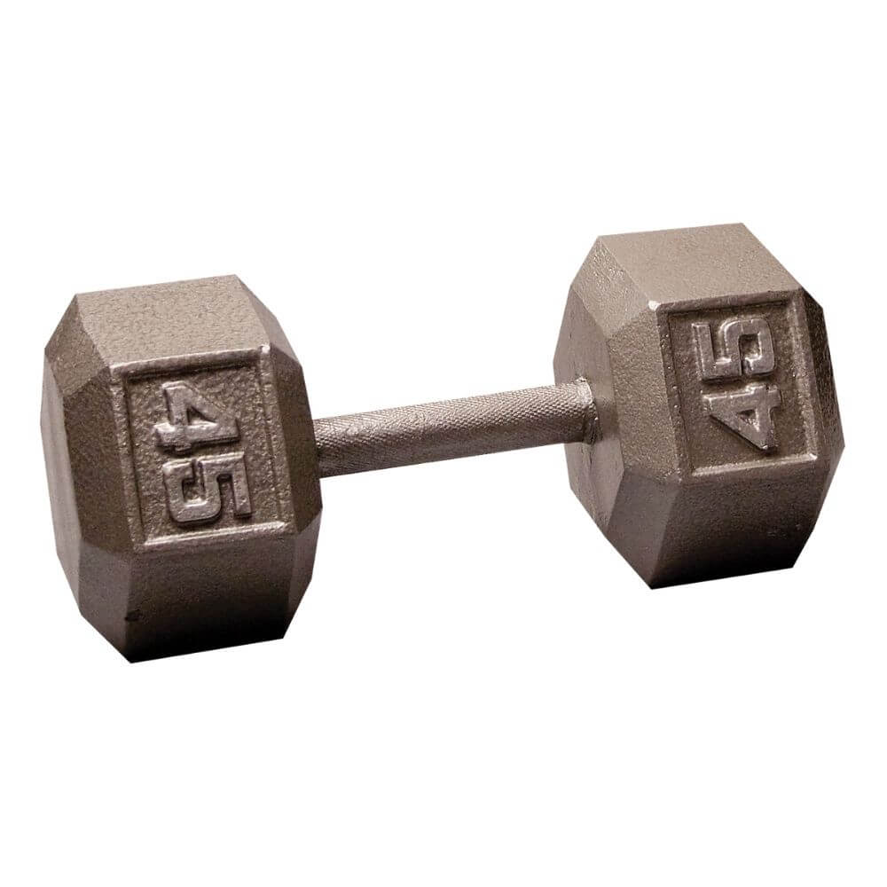 Body-Solid SDX Cast Iron Hex Dumbbells 45 lbs