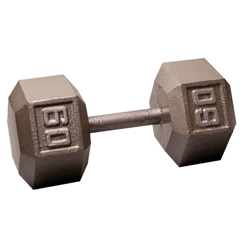 Body-Solid SDX Cast Iron Hex Dumbbells 60 lbs