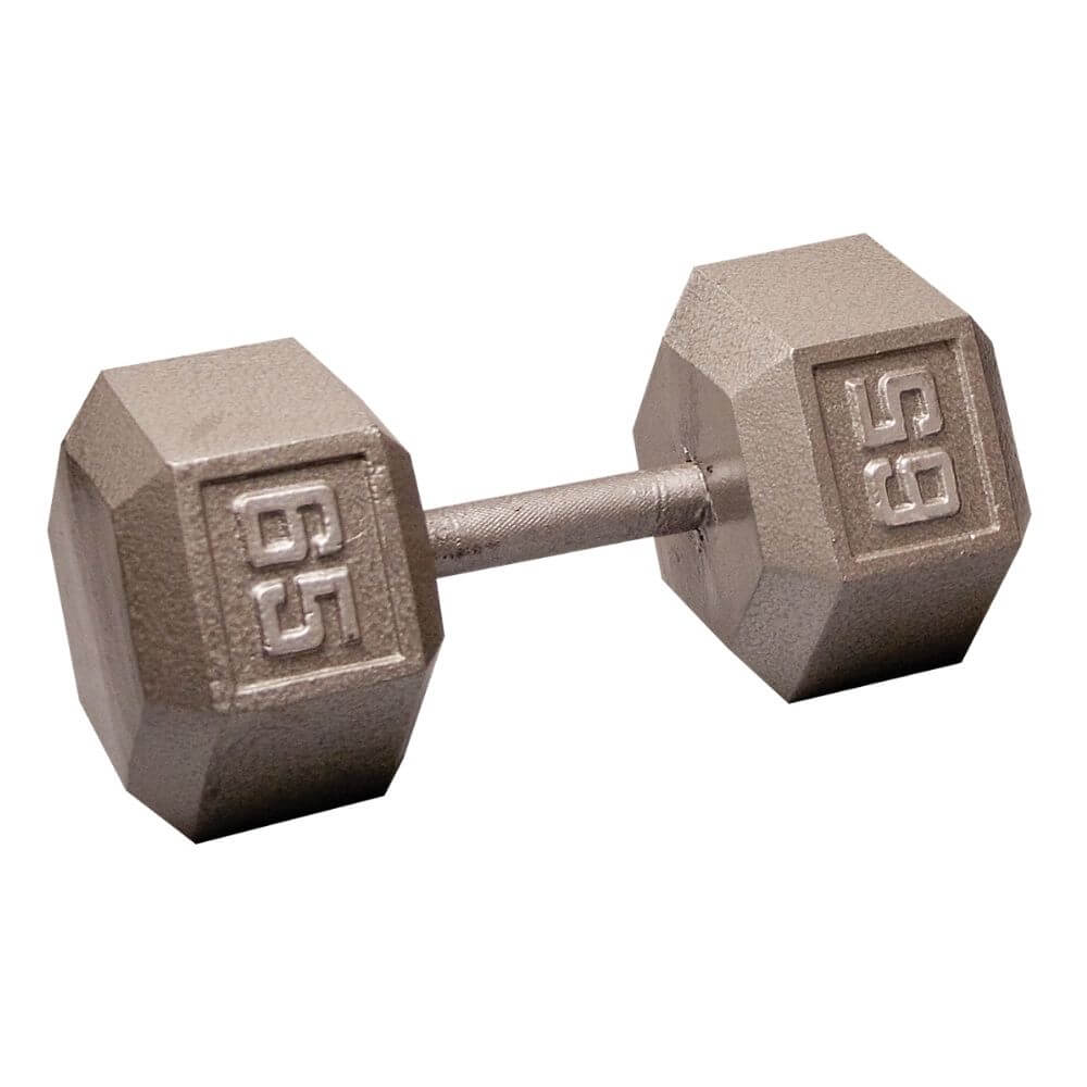 Body-Solid SDX Cast Iron Hex Dumbbells 65 lbs