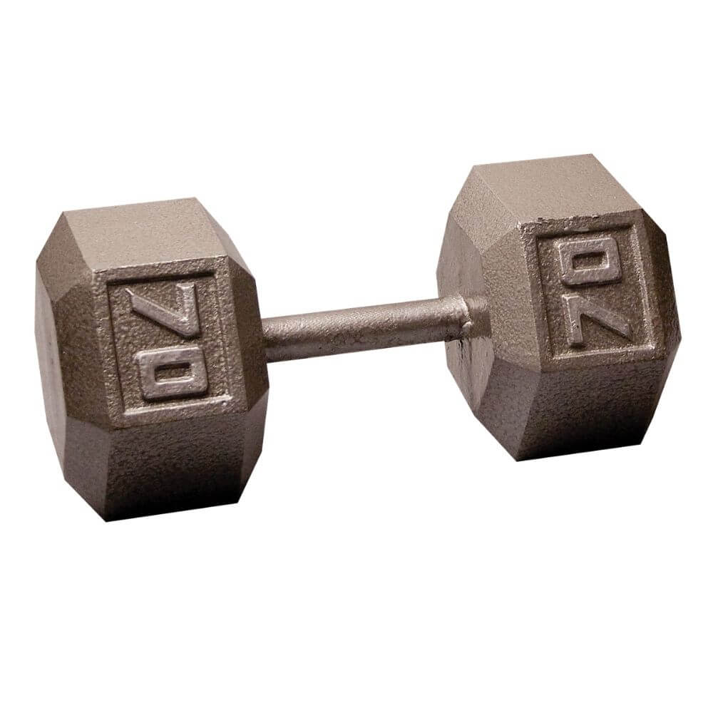 Body-Solid SDX Cast Iron Hex Dumbbells 70 lbs