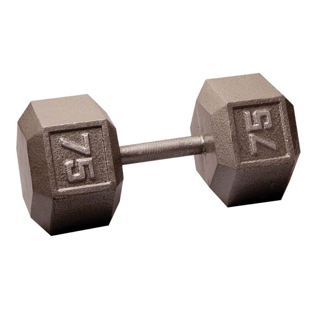 Body-Solid SDX Cast Iron Hex Dumbbells 75 lbs
