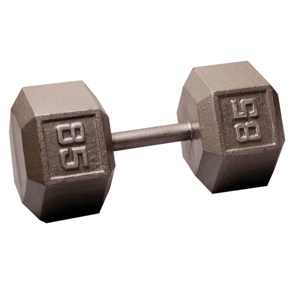 Body-Solid SDX Cast Iron Hex Dumbbells 85 lbs