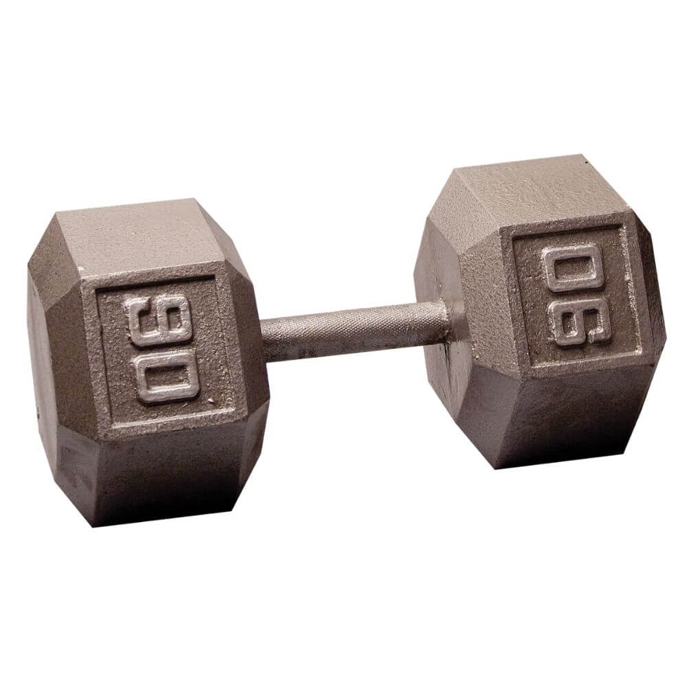 Body-Solid SDX Cast Iron Hex Dumbbells 90 lbs