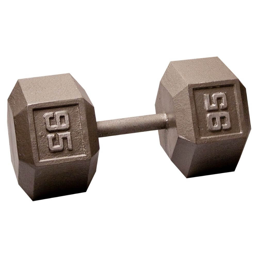 Body-Solid SDX Cast Iron Hex Dumbbells 95 lbs