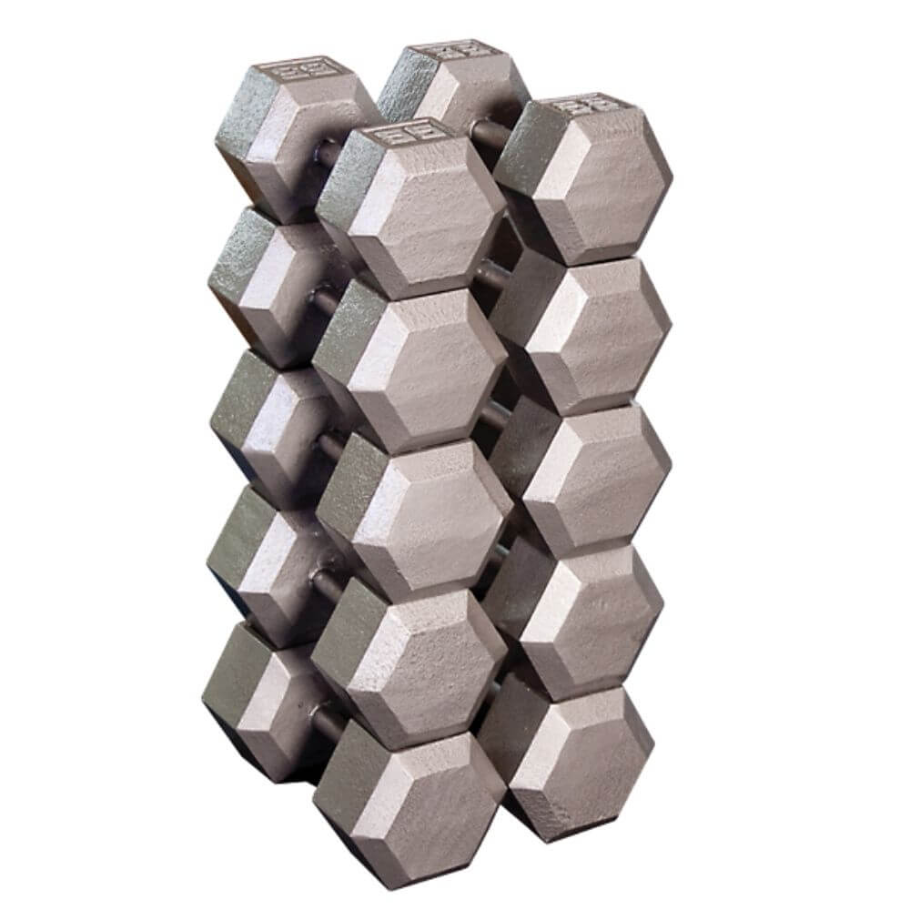 Body-Solid SDX Cast Iron Hex Dumbbells Family