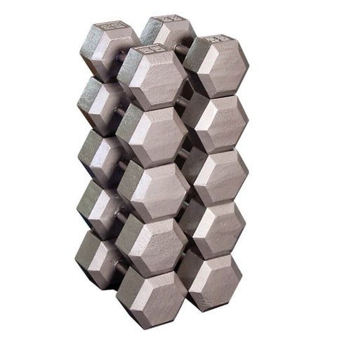 Image of Body-Solid SDX Cast Iron Hex Dumbbells Family