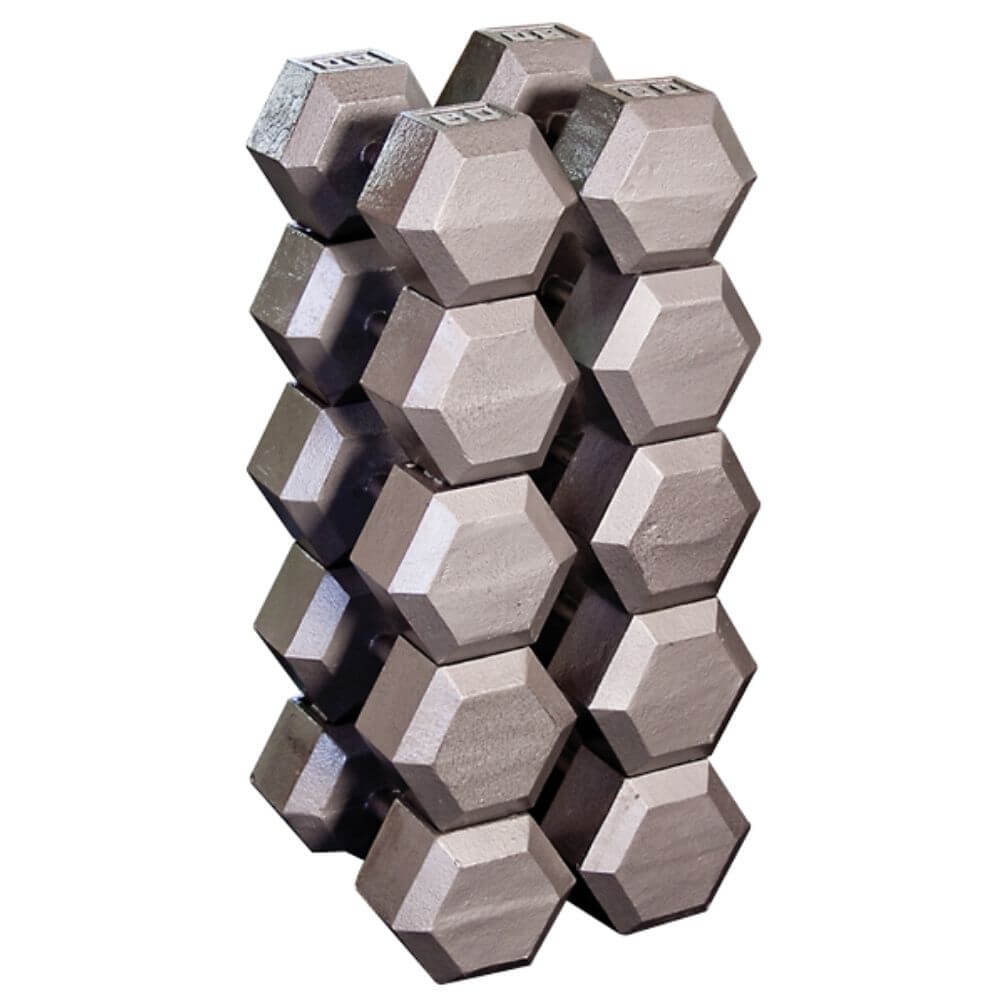 Body-Solid SDX Cast Iron Hex Dumbbells Group
