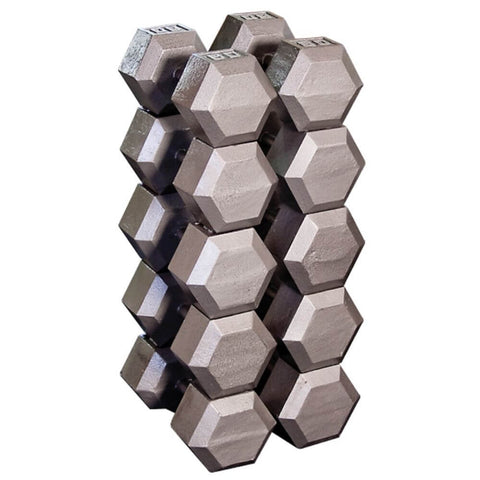Image of Body-Solid SDX Cast Iron Hex Dumbbells Group
