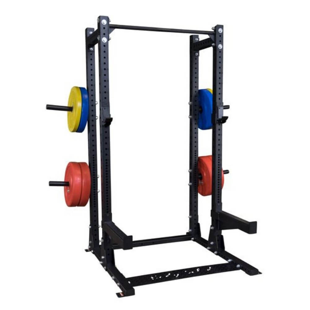Body-Solid SPR500BACK Extended Commercial Half Rack 3D View With Plates