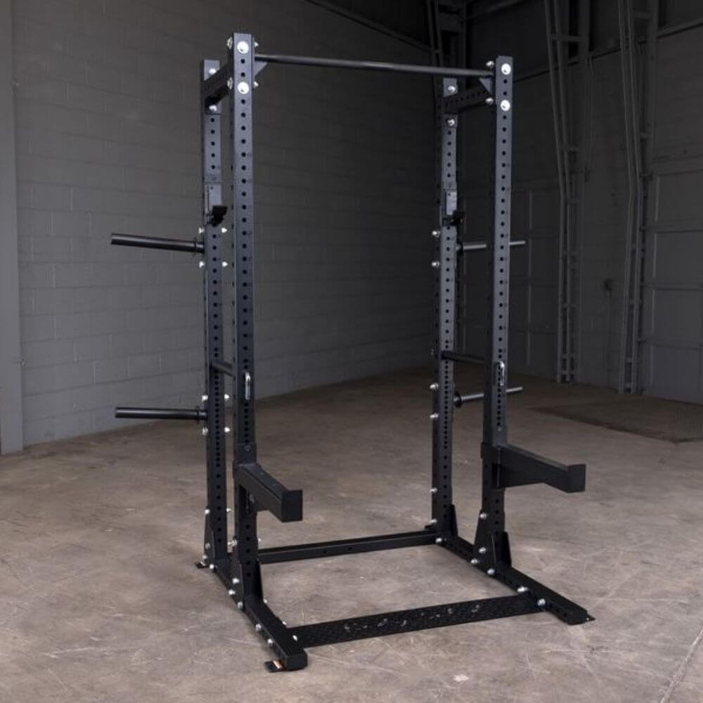 Body-Solid SPR500BACK Extended Commercial Half Rack Front Side View