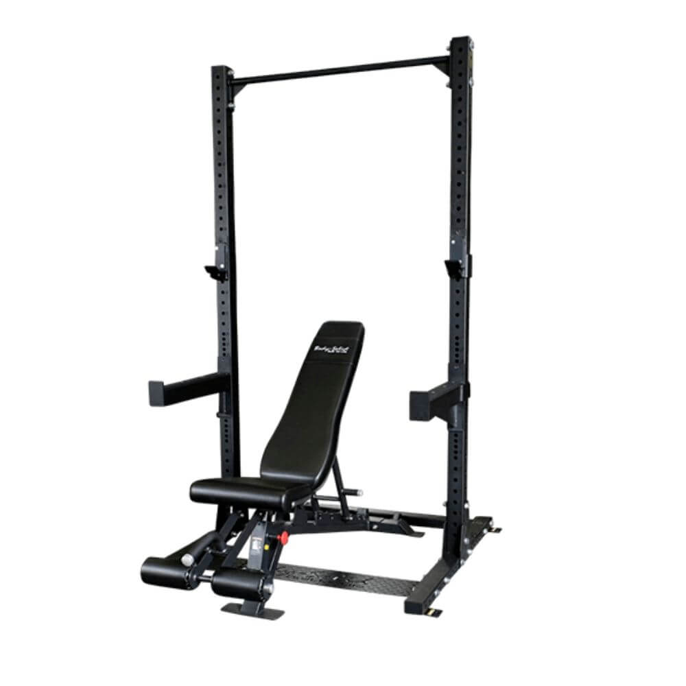 Body-Solid SPR500P2 Commercial Half Rack with ProClub FID Bench 3D View