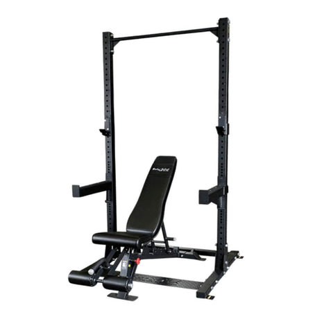 Image of Body-Solid SPR500P2 Commercial Half Rack with ProClub FID Bench 3D View
