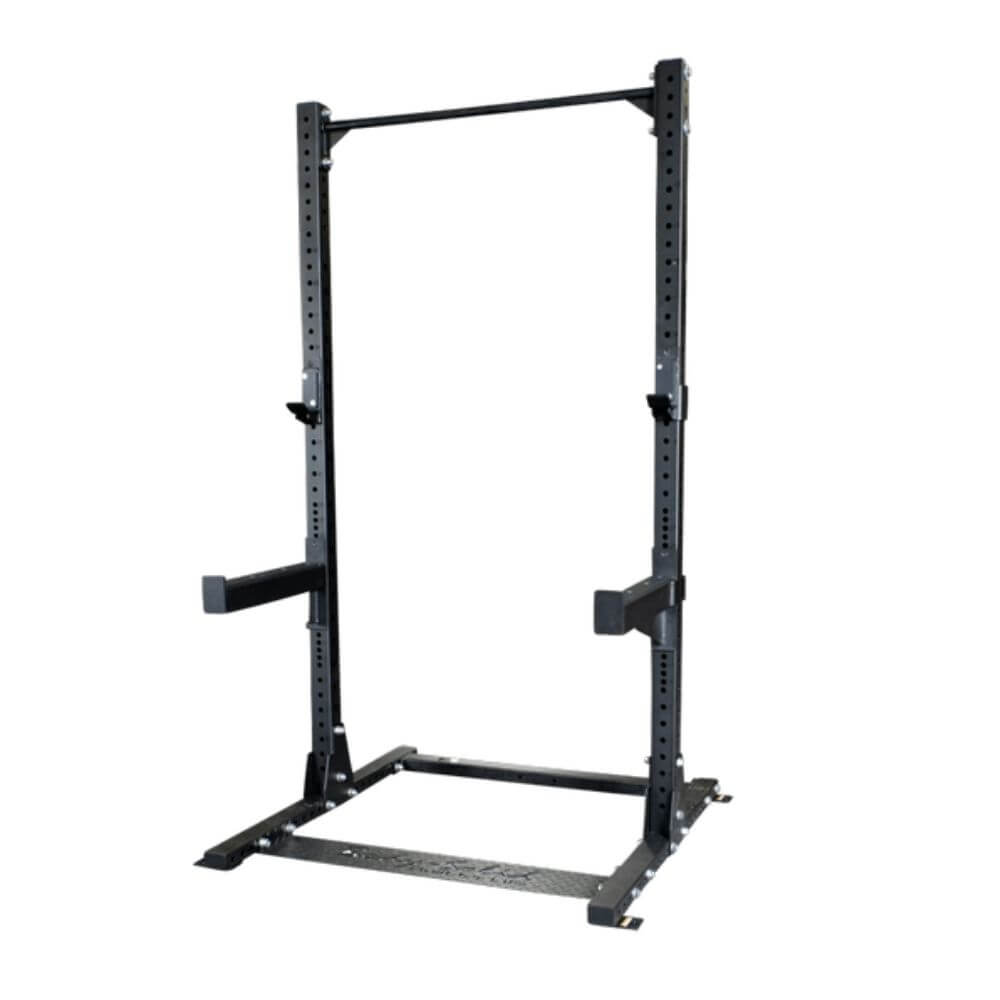Body-Solid SPR500P2 Commercial Half Rack with ProClub FID Bench Chin Up