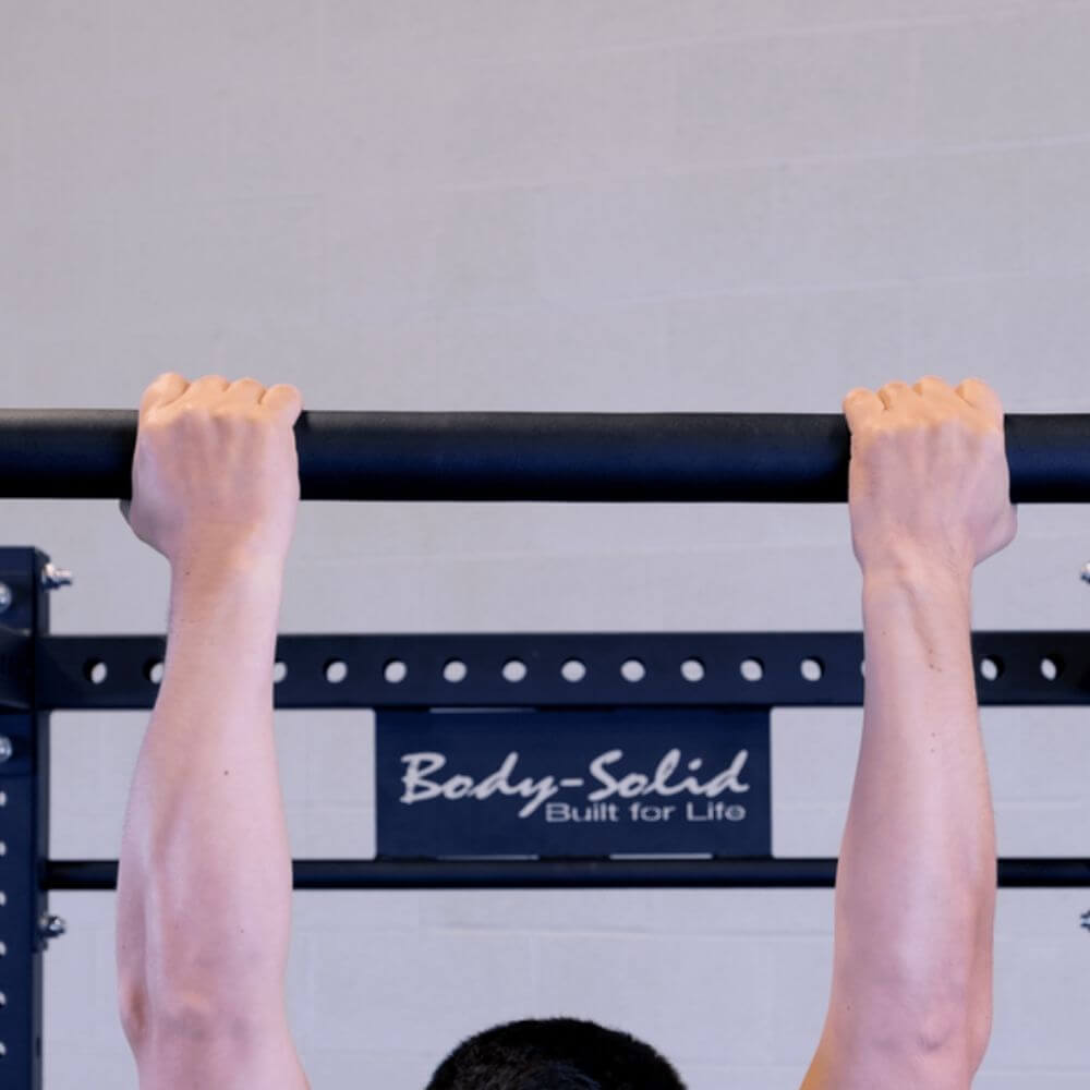 Body-Solid SPRCB Fat Chin Up Bar Close Up View